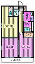 アービスマンション[303号室]の間取り