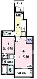 Iride K (イリーデケー)[1階]の間取り