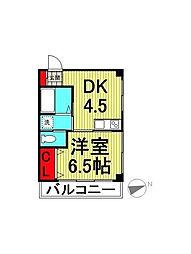 山一東十条ビル[2階]の間取り