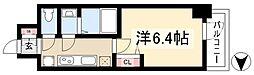 アステリ鶴舞ディオ 6階1Kの間取り