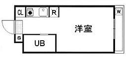 神奈川県横浜市南区西中町2丁目の賃貸マンションの間取り