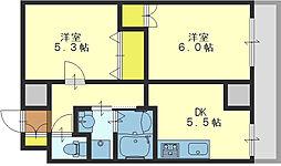 HERITAGE高井田[306号室]の間取り