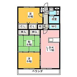 メゾン ド プレヌ[3階]の間取り