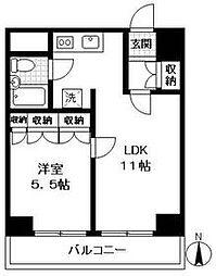 神奈川県横浜市南区吉野町5丁目の賃貸マンションの間取り