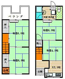 [テラスハウス] 大阪府八尾市南太子堂6丁目 の賃貸【/】の間取り