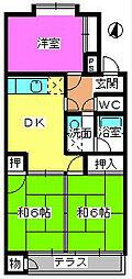 パークハイツ三宅[106号室]の間取り