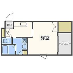 エイペックス京町堀[2階]の間取り