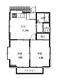 西大沼アパート[2階]の間取り
