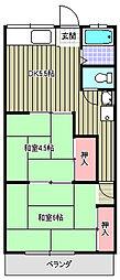 コーポ吉岡[205号室]の間取り