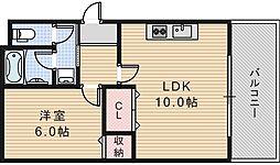 大阪府大阪市阿倍野区阿倍野筋2丁目の賃貸マンションの間取り