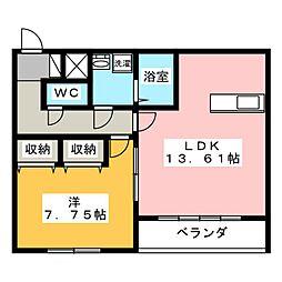 VISAGE笠原II[1階]の間取り