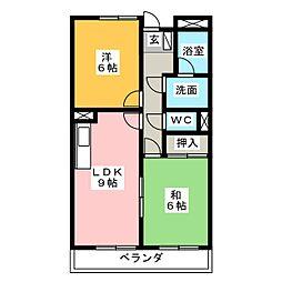 ヴァンベール[3階]の間取り