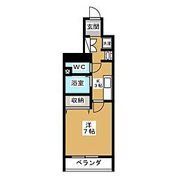 スワンズ京都セントラルシティ[5階]の間取り