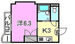 マ・メゾン山越[205 号室号室]の間取り