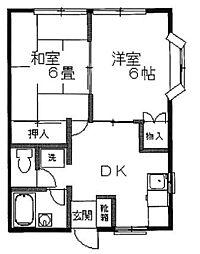 中野ハイツ[103号室]の間取り