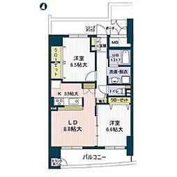 淀川イーストタワー[7階]の間取り