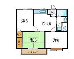 兵庫県加古川市尾上町口里の賃貸マンションの間取り