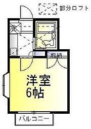 神奈川県相模原市中央区上溝4丁目の賃貸アパートの間取り