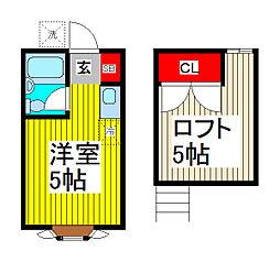 メゾン・ド・ロワール戸田[101号室]の間取り
