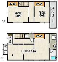[一戸建] 兵庫県川西市栄町 の賃貸【/】の間取り