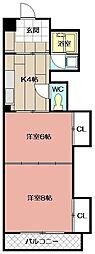 ルポ門司駅前ビル[3階]の間取り