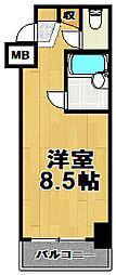 フュージョン山秀[3階]の間取り