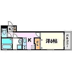 CoLaBo甲子園west[3階]の間取り