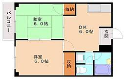 クレスト高田[2階]の間取り