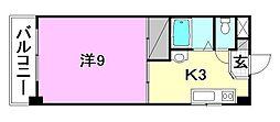 竹乃井第2ビル[502号室]の間取り