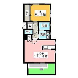 アドバンスT[1階]の間取り