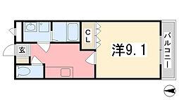 レインボーパレスI[2階]の間取り