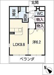 仮)尾上町澤田マンション[1階]の間取り