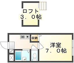 香川県高松市西町の賃貸アパートの間取り
