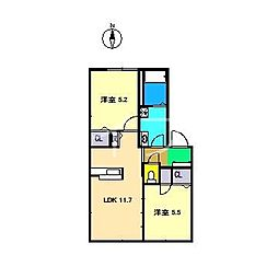 ラ・ベルターナ3 C棟[2階]の間取り