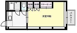 ソレイユ野田[203号室]の間取り