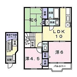 メイプルハウス2[203号室]の間取り