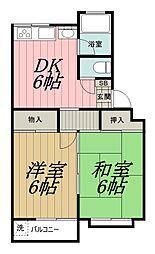 千葉県千葉市中央区旭町の賃貸アパートの間取り