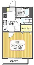 東京都足立区皿沼2丁目の賃貸アパートの間取り