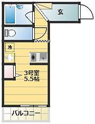 ベイルーム吉野町[2階]の間取り