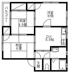 新潟県新潟市秋葉区さつき野1丁目の賃貸アパートの間取り