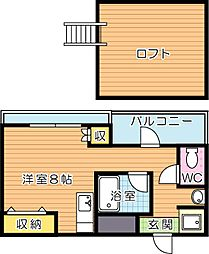 オリエンタル黒崎[9階]の間取り