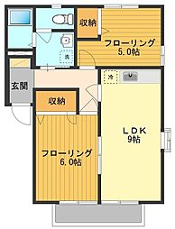 サンレイクビアンカB[2階]の間取り