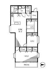 東堀切1丁目2世帯住宅[2階]の間取り