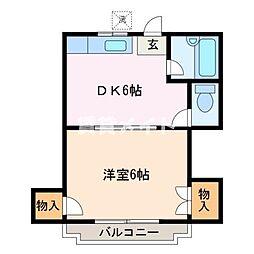 青雲ハイツI[1階]の間取り