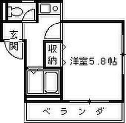 兵庫県西宮市市庭町の賃貸マンションの間取り