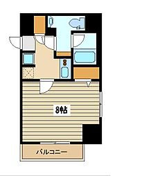 西武池袋線 保谷駅 徒歩4分の賃貸マンション 1階1Kの間取り