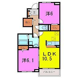 [タウンハウス] 愛知県大府市東新町6丁目 の賃貸【愛知県 / 大府市】の間取り