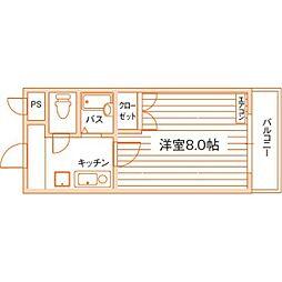 ロイヤルハイツ折尾1号館[7階]の間取り