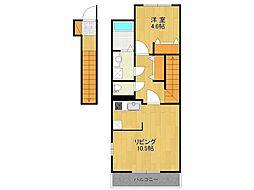 仮)K様アパート[203号室]の間取り