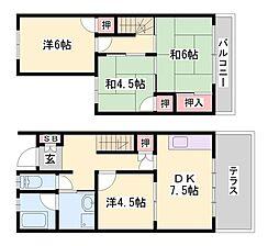 [テラスハウス] 兵庫県神戸市西区池上4丁目 の賃貸【兵庫県 / 神戸市西区】の間取り